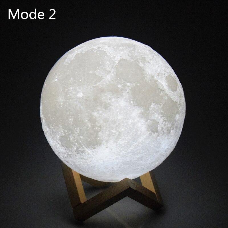 AIFENG 3D принт света Луны 3d Лунная ночь огни 3d лампы встроенная аккумуляторная батарея Usb зарядки Moon лампа ночник
