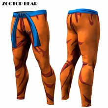 Dragon Ball Pants Compression font b Trousers b font Fitness Quick Dry Pant Tight 3D Dragon