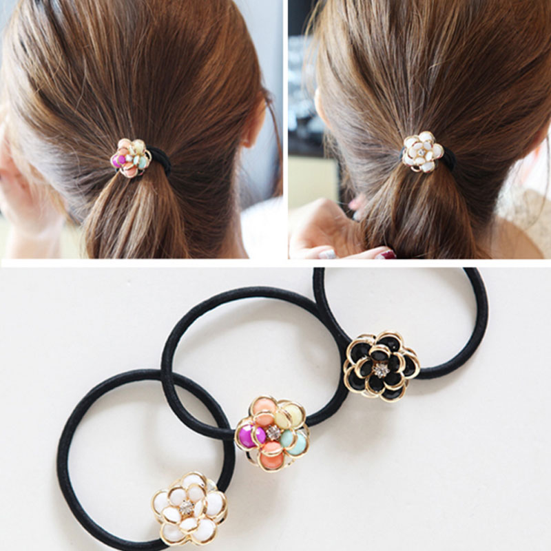 M MISM Girl Elastic Hair Bands Flower Cute Scrunchy For Women Elegant Gum For Hair Lovely Ponytail Holders Hair Accessories New m mism korean artificial marten ball hair elastic band ponytail holder girl kids scrunchy hair accessories gift gum for hair