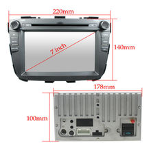 For 2 Din Quad core Kia Sorento 2013 New model car dvd player GPS with cortex A9+3G+Wifi+Radio+BT phonebook+Ipod list+USB+SWC