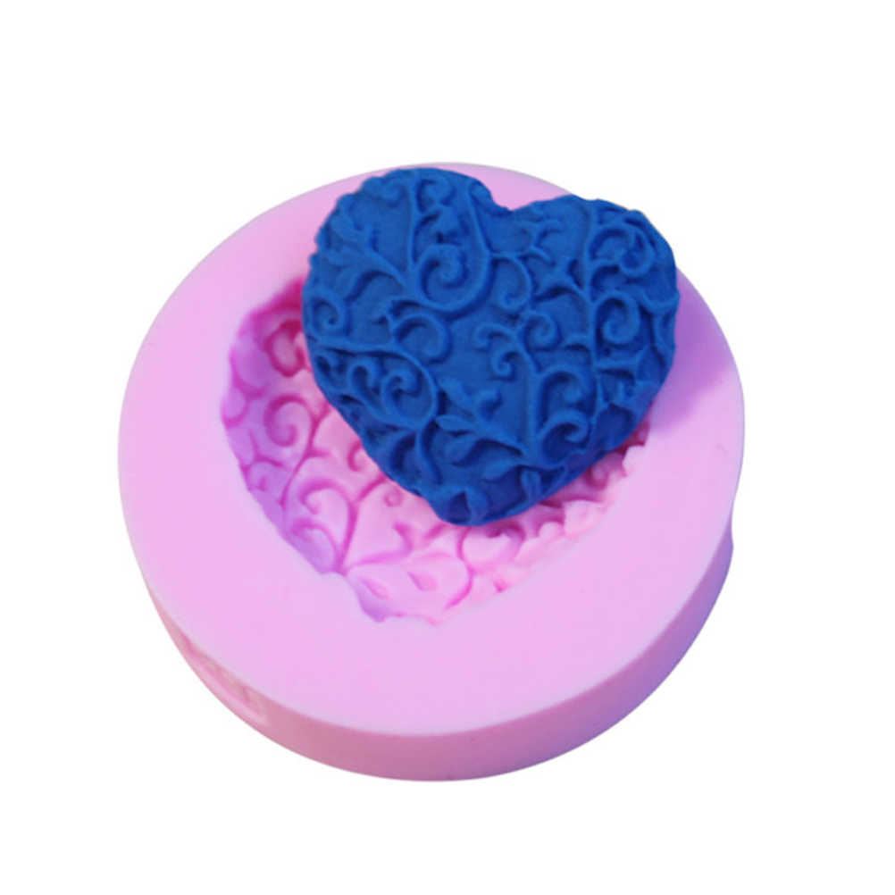 DIY Chocolate Soap Molds Heart Shape Silicone Cake Mold Sugar Craft Cake Decorating Tools Form For Cakes Biscuits