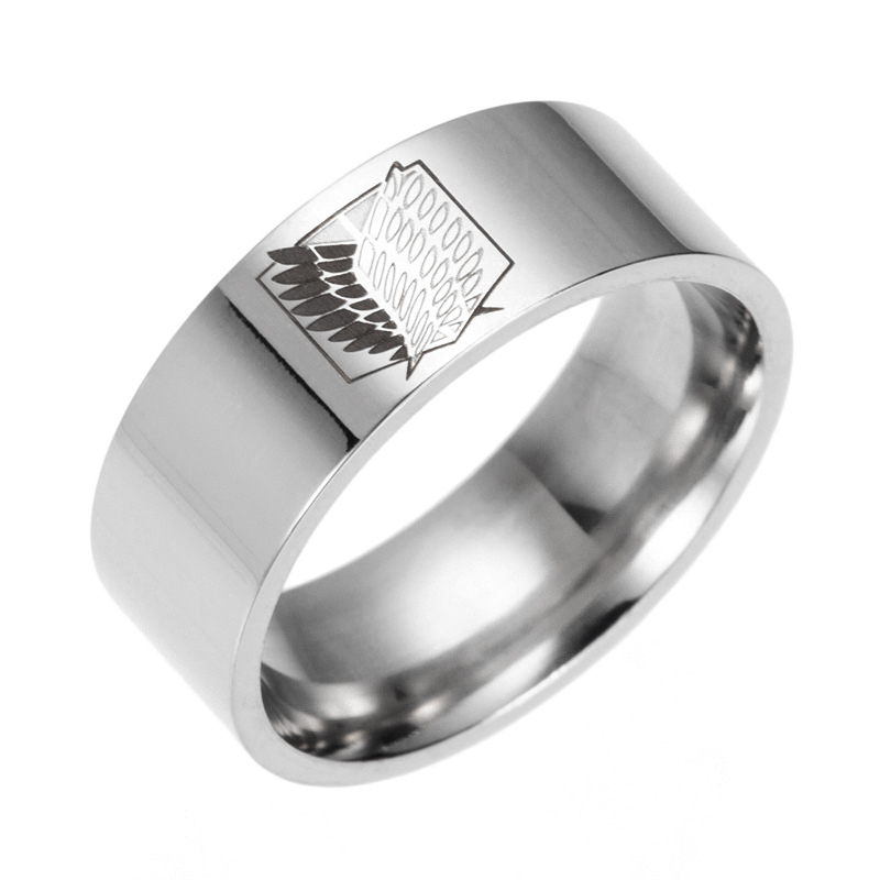 Attack On Titan Silver Steel Ring