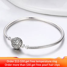 2019 New 100% 925 Sterling Silver Delicate Life Basic Chain Charm Bracelet for Women Fine Jewelry DIY Accessories Gift HSB062(China)