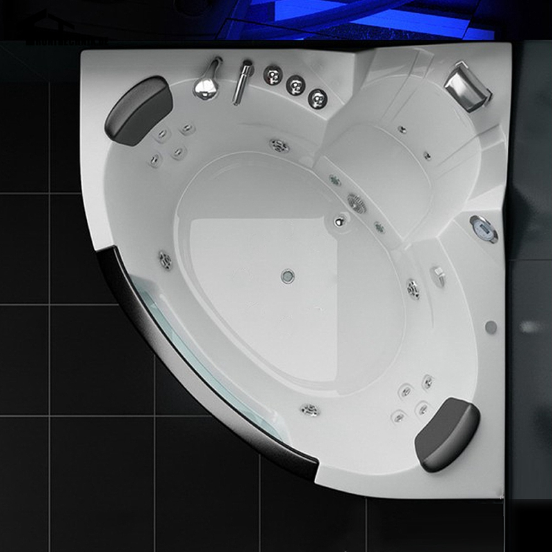 1350mm Wall Corner Whirlpool Hot Tub Shower Spa Massage 2 person ...