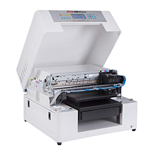 DIY dtg printer Flatbed t shirt printing machine with textile ink print on black t shirt