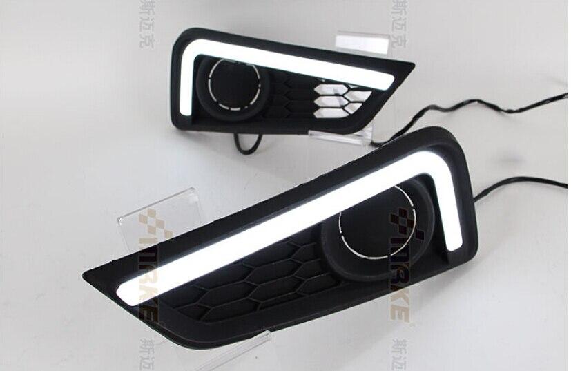 бесплатная доставка,световой дизайн руководство СИД DRL дневные ходовые огни с Янтарный включите свет подходит для Honda Грейс Сити 2014 2015