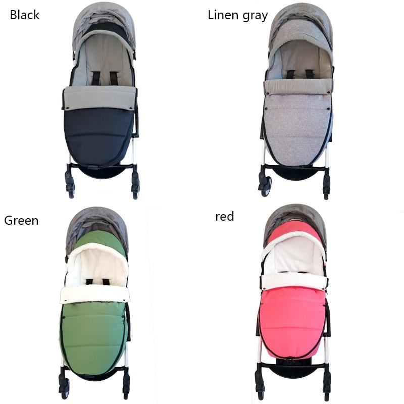 Baby Carriage Warm Footmuff Winter Sleeping Bag Reveal Feet Windproof Bilateral Zipper For Yoyo Bugaboo Stroller Accessories