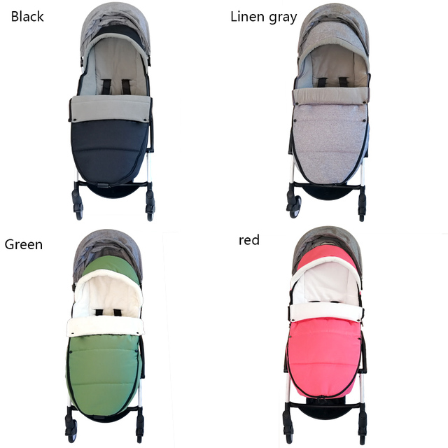 Baby Carriage Warm Footmuff Winter Sleeping Bag Reveal Feet Windproof Bilateral Zipper For Yoyo Bugaboo Stroller Accessories
