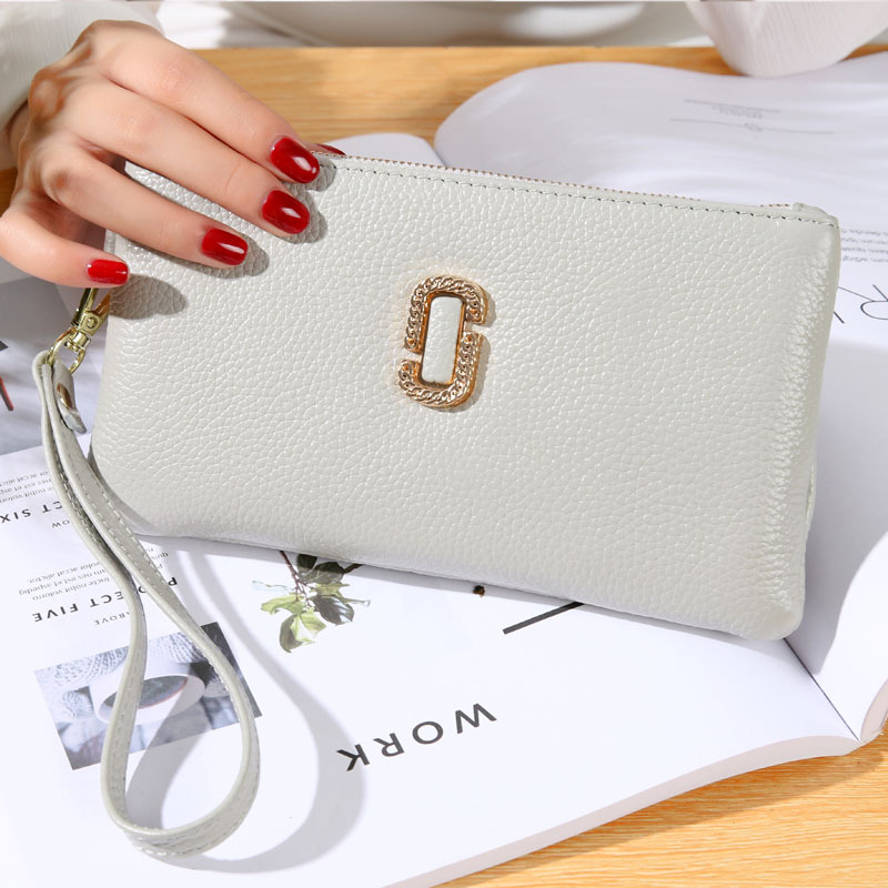 Women Clutch Handbag Hot sale Genuine Cow Leather Wallets Female Purse Iphone6 Plus Holder Evening Bag with Handle for Gift 622