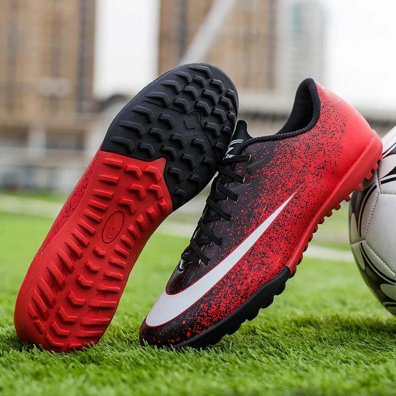 Zhenzu Professionele Voetbalschoenen Mannen Kids Jongens Voetbal Schoenen Chuteira Futebol Hoge Kwaliteit