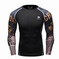 Compressão dos homens De manga Comprida Respirável de Secagem rápida Camisas levantamento de Peso musculação Apertado No Topo da Camada de Base de Fitness T-shirt