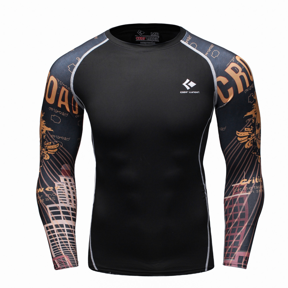 Mens Compression Long sleeve Breathable Quick Dry T Shirts Bodybuilding font b Weight b font font