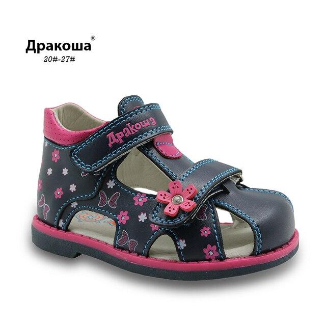 Apakowa הקיץ קלאסי אופנה ילדי נעליים לפעוטות בנות סנדלי ילדי בנות עור מפוצל סנדלי פרפר עם קשת תמיכה