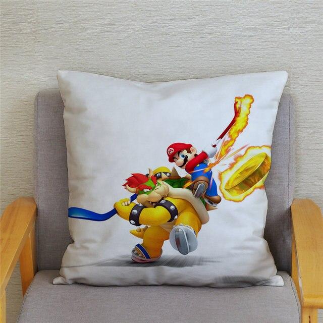 Super Mario Cushion Cover Pillowcase Car Sofa Home Decor Classic Game Cartoon