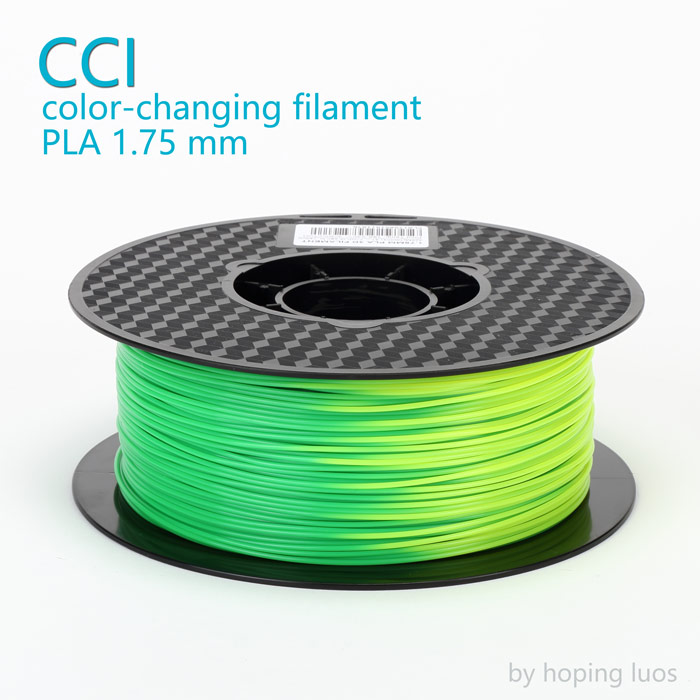 3d printer filament pla 1.75mm color change filament green to yellow 1kg 3d pen  printing plastic temperature changing material