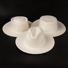 2019 ใหม่Unisexสีขาวกว้างBrim Beachหมวกผู้ชายผู้หญิงFedora DERBY ChurchหมวกFine Braid Sunหมวกฤดูร้อนหมวกฐาน