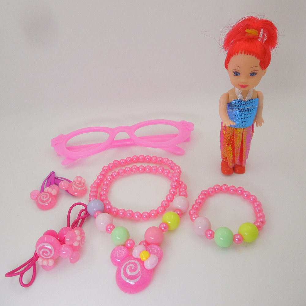 Children jewelry best baby products!Wholesale children/kid jewelry handmade Smile doll necklace EV-GJ11