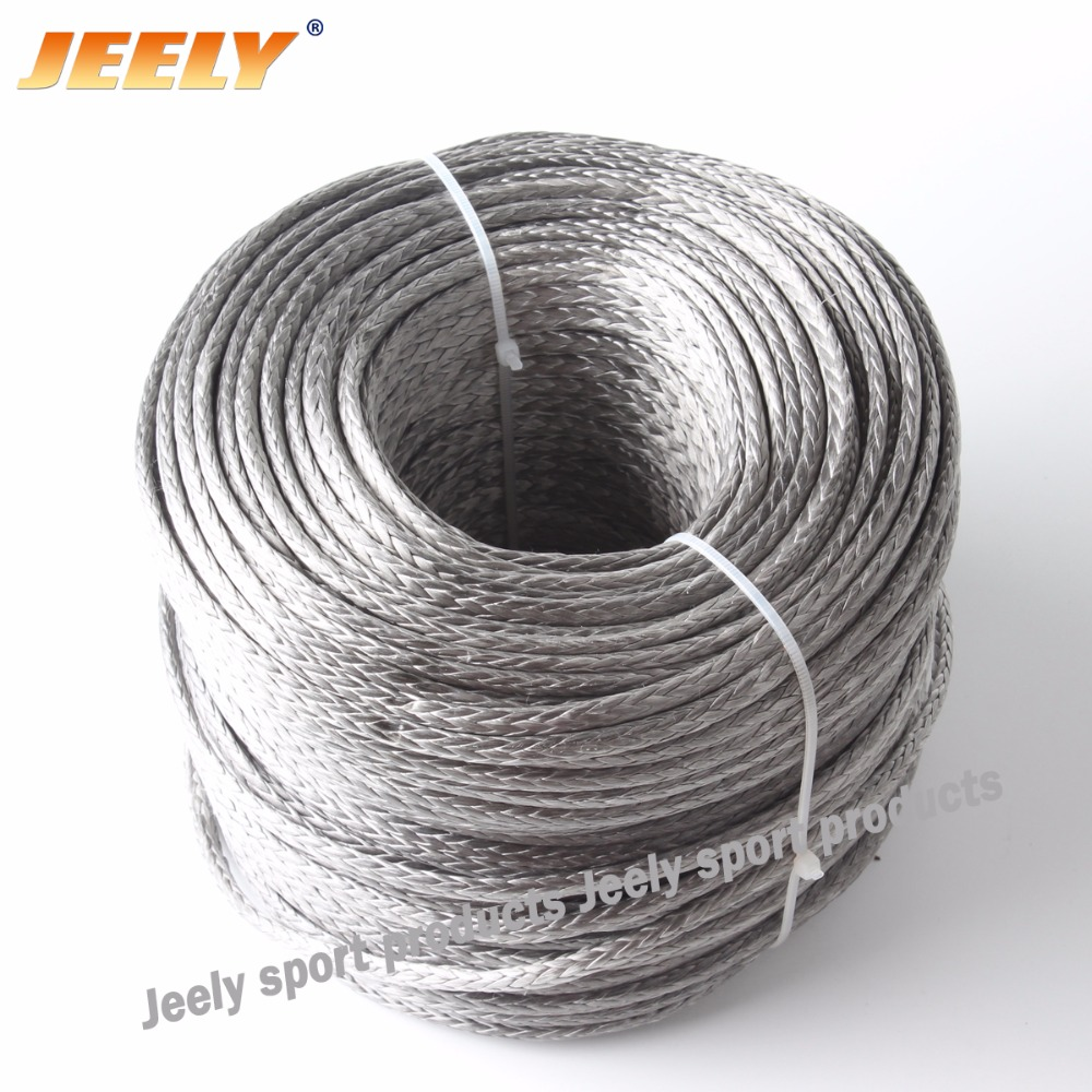 Free Shipping 12 weaves 3mm 2000lb 50m Paraglider Winch Rope UHMWPE Braided стоимость