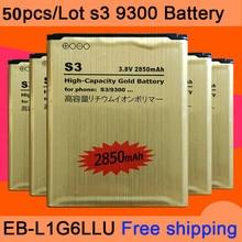 50 шт./лот для s3 Батарея Золотой Литий-ионная Замена Батарея для s3 EB-L1G6LLU для Galaxy S3 i9300 Батарея