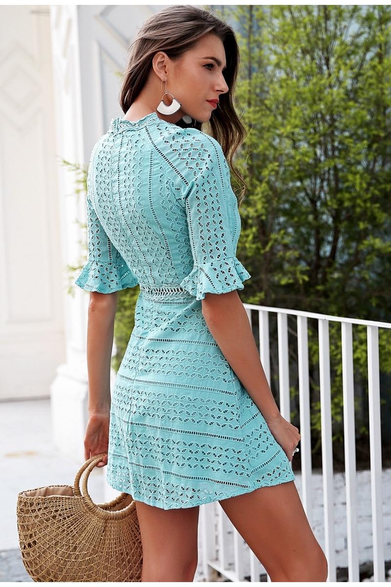Spring white vestidos midi 4