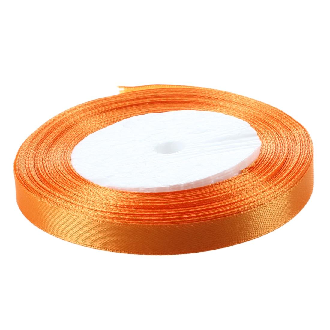 3/8 «10 мм 25 ярдов атласная лента, рулон Свадебная вечеринка Craft DIY украшения оранжевый