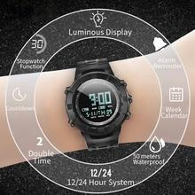 цена на 2019 New Fashion Men Watch Analog LED Digital Date Alarm Waterproof Sport Quartz Wrist Watch relogio feminino Dropshipping Q7