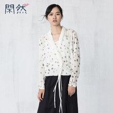 Xian Ran 2017  Women Spring Summer Shirt Linen And Cotton Women Shirt Special Design High Quality Free Shipping New Arrival