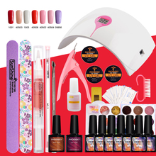Nail Set 36W LED Lamp With 7Pcs Gel Nail Polish Soak Off Manicure Pedicure Tools Set For Nail Art Gel Varnish Kit Manicure Sets