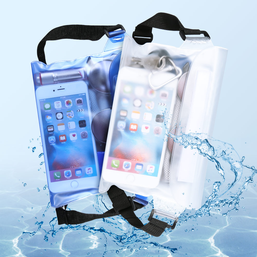 Transparent Waterproof Phone Bag Case For iPhone 8 X Big Capacity Swimming PVC Shoulder Waist Bag For Samsung S8 S9 Cover Pouch