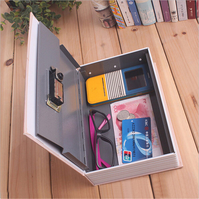 Home Storage Safe Box Dictionary Book Bank Money Cash Jewellery Hidden Secret Security Locker With Key Lock 2017ing