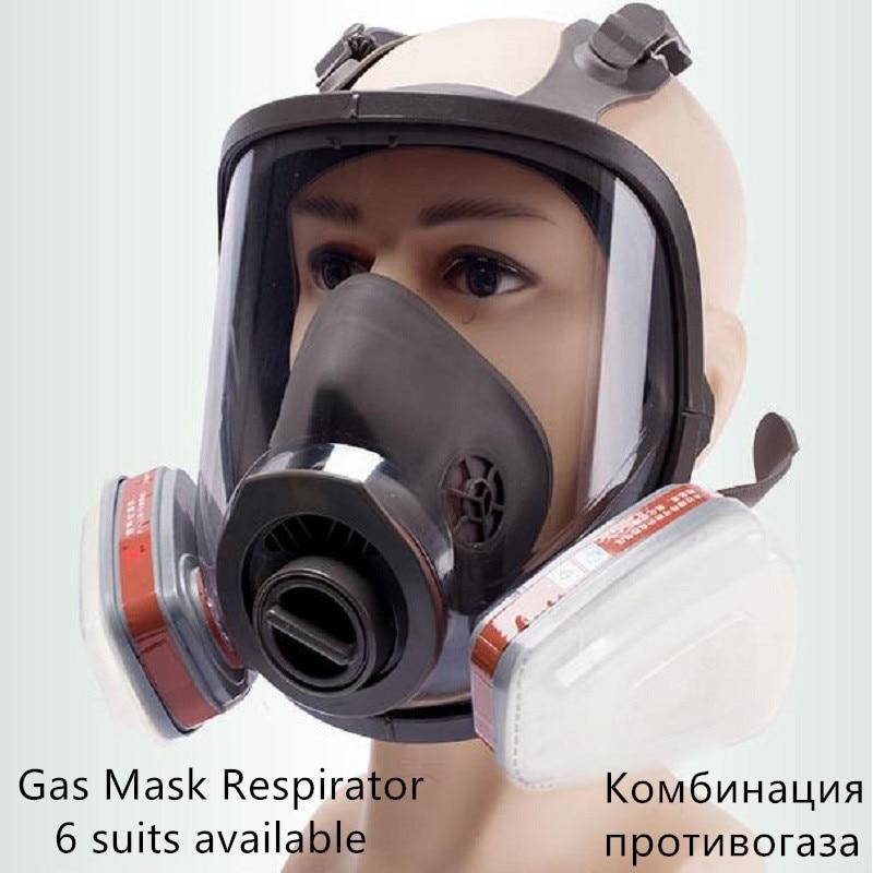 6800 Intégral pièces Masque À Gaz Respirateur 3m filtres 6001 2091 Industriel chimique De Protection Pulvérisation Peinture Soudure Laboratoire anti-Poussière
