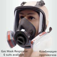 6800 Pieno Viso-Pezzo di Maschera Antigas Respiratore 3M Filtri 6001 2091 Chimica Industriale Spruzzatura di Vernice di Protezione Saldatura Lab a Prova di Polvere