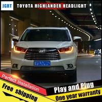 Car Style LED Headlights For Toyota Highlander 15 16 For Highlande Head Lamp LED Lens Double