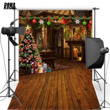 DAWNKNOW New Year Christmas Vinyl Photography Background Indoor For Children Polyester Backdrop Family Photo Shoot 6385