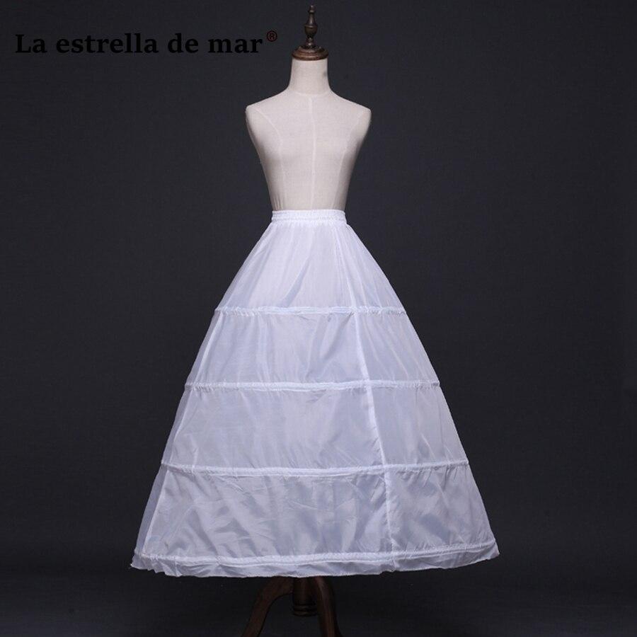 La estrella de mar2018 Newlyweds Accessories 4 Hoops petticoat Wholesale petticoats for wedding dress in stock jupon mariage