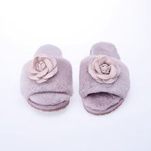 Shoes Women 2018 Hot Sale Winter Warm And Cozy Home Slippers For Indoor Faux Fur Soft Basic Flower Ladies SA20