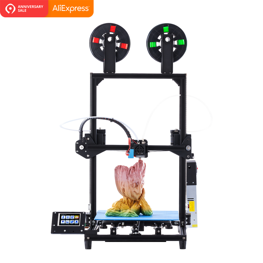 2019 Flsun 3D Printer 328 I3 kit C5 pro Dual Extruder High Precision Large Printing Size