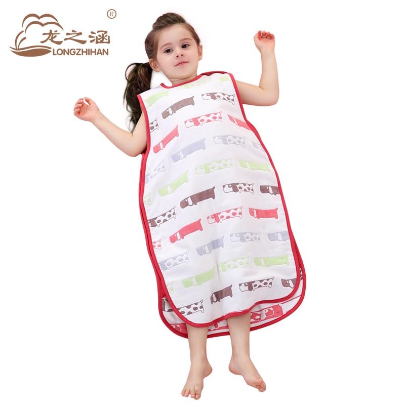 100% Muslin Cotton Children Sleeping Bag Summer Envelope ...