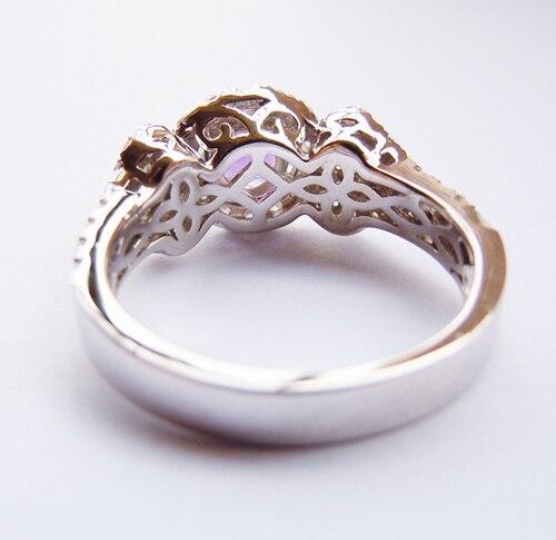 Обручальное кольцо из подлинного серебра 925 пробы для женщин - 5