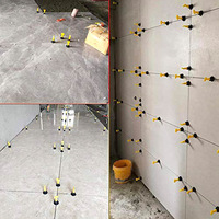 100Pcs Flat Ceramic Floor Wall Construction Tools Reusable Tile Leveling SLC88