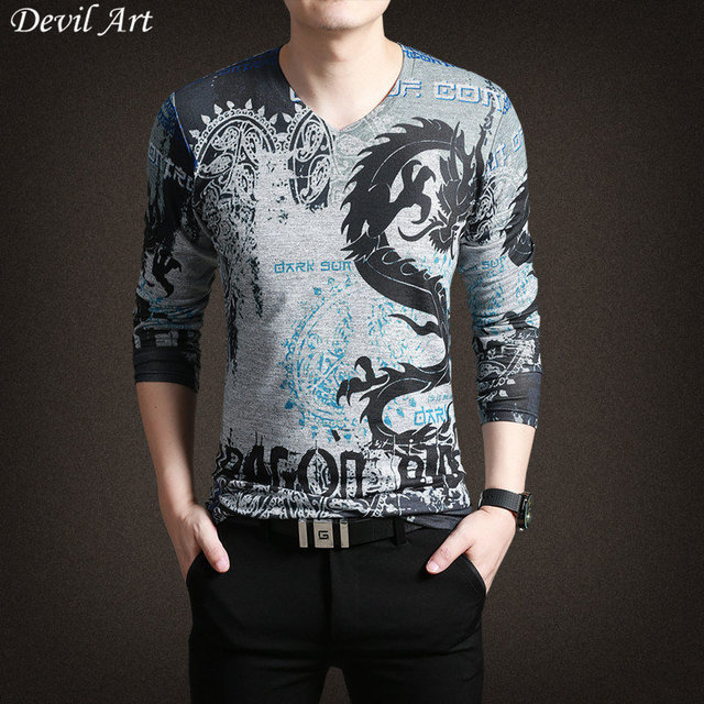 New Fashion Men's Brand Thin Sweater Casual Men Dragon 3D Pattern Slim Knitted Pullovers Shirt Pull Homme Top Quality T144