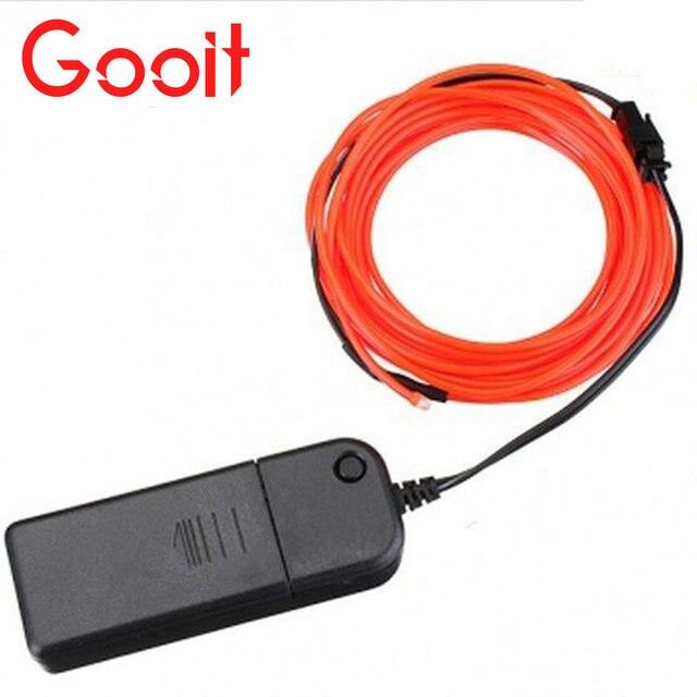 4M 10 colors 3V Flexible Neon EL Wire Light Dance Party Decor Light ...