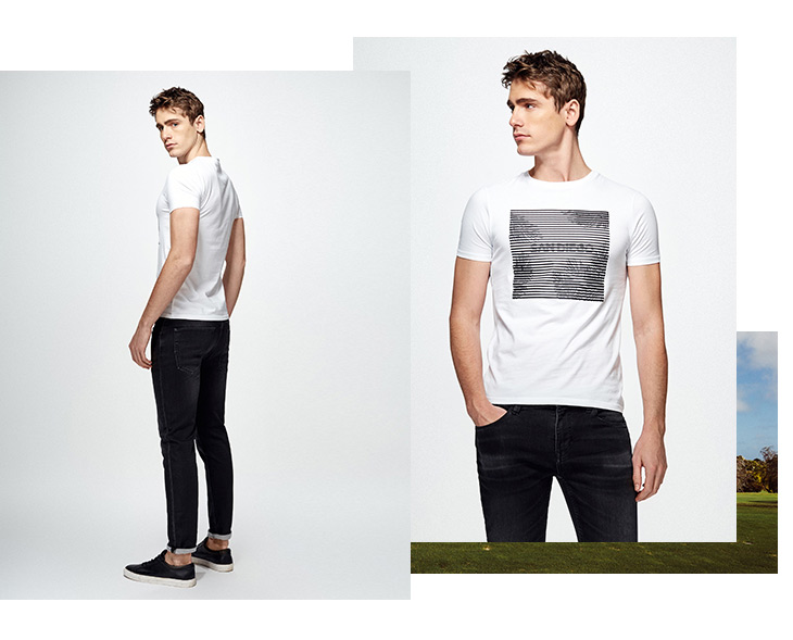 HTB1Wlv4sDdYBeNkSmLyq6xfnVXaz - SELECTED  cotton round collar short-sleeved T-shirt C|4182T4593