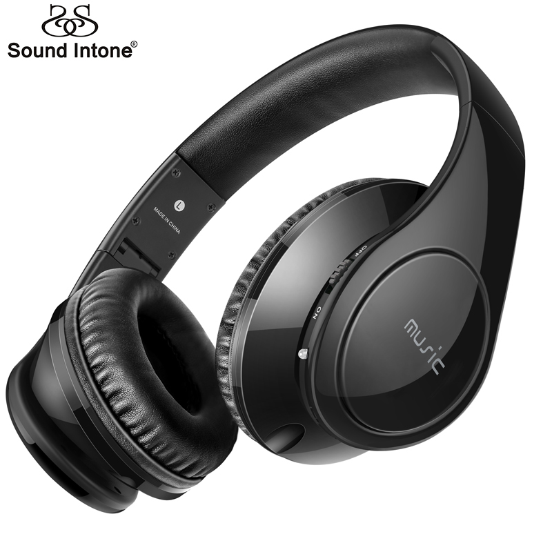 sound intone p7 wireless bluetooth headphones with mic support tf card high quality stereo. Black Bedroom Furniture Sets. Home Design Ideas