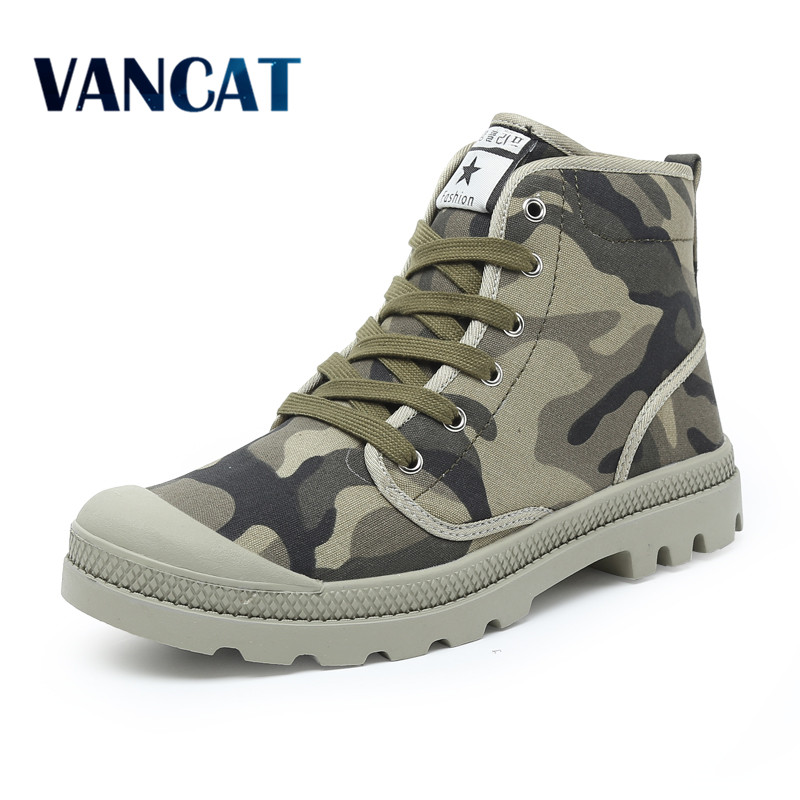 Men Casual Shoes Ankle Military Canvas Shoes Tactical Combat Lace-Up Spring/Autumn Men shoes Zapatillas Hombre Big Size 38-47