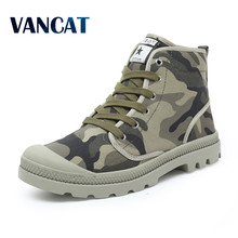 Men Casual Shoes Ankle Military Canvas