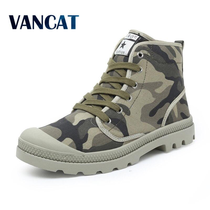 Männer Freizeitschuhe Ankle Militär Leinwand Schuhe Taktischer Kampf Lace-Up Frühling/Herbst Männer schuhe Zapatillas Hombre Große größe 38-47