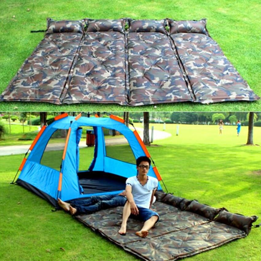 Camouflage kültéri automata felfújható matrac párna pad vastag - Kemping és túrázás - Fénykép 1