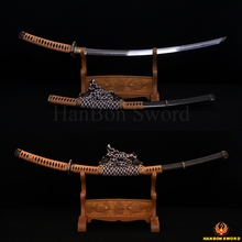 Hand Forged Samurai Japanese Katana Tachi Sword Full Tang Folded Damascus Steel 8192 Layers Clay Tempered Blade Sharp SORI 1.5″