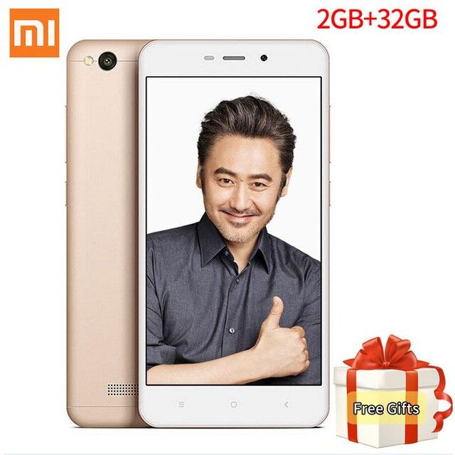 "Оригинал Xiaomi Redmi 4А Pro Snapdragon 425 Quad Core CPU 2 ГБ RAM 32 ГБ ROM 5.0 ""13.0MP камера 3120 мАч Батареи 4 Г Мобильный Телефон"